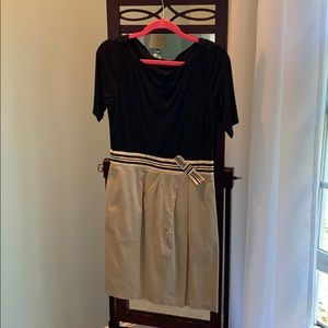 The Limited Black and Khaki dress